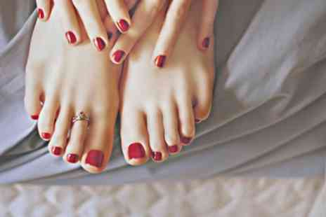 Time Hairdressers - Shellac Polish on Fingers, Toes, or Both at Time Hairdressers - Save 0%