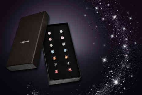The Gemseller - Seven pairs of crystal earrings made with Swarovski Elements - Save 90%