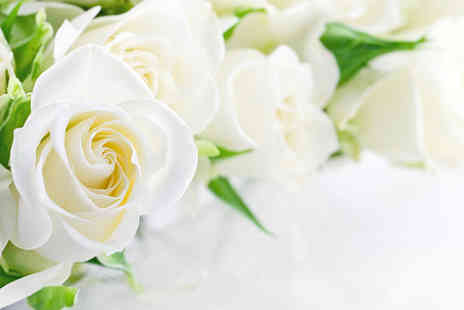 Wowher Direct - Luxury white rose Christmas bouquet - Save 49%