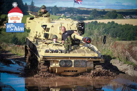Tank Driving Scotland - One hour tank riding experience for one  - Save 36%