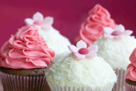 Strawberry Cupcakes - 2 ½ hour cupcake & chocolate flower making course plus take home 6 cakes - Save 78%