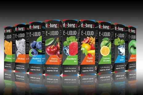 Spot Promotions - 10 DeBang Electric Cigarette E Liquids in Choice of Flavour - Save 50%
