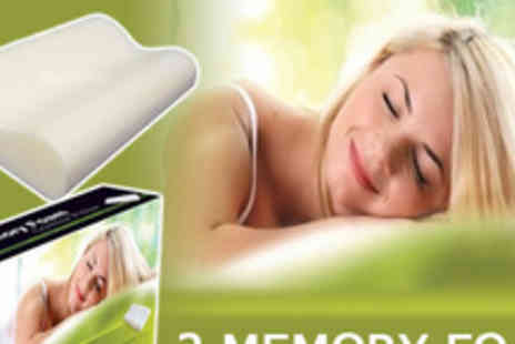 Bedz4u - Sleep tight with two memory foam pillows - Save 60%