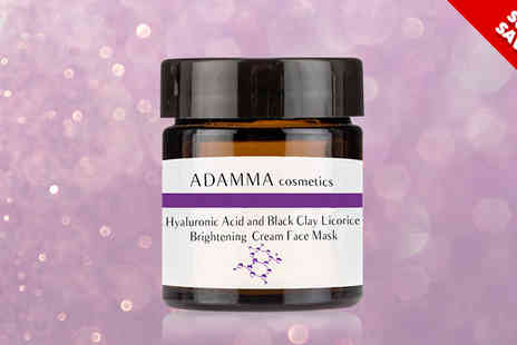 Adamma Beauty - Black Clay Licorice Face Mask with Hyaluronic Acid - Save 79%