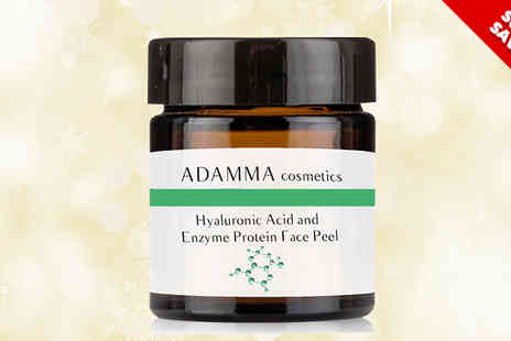 Adamma Beauty - Enzyme Protein Face Peel Mask with Hyaluronic Acid 50ml - Save 78%