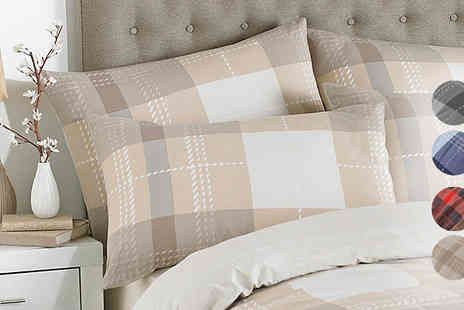 Gorgeous Selection - Riva Home Clubhouse Tartan Duvet Cover Bedding Set - Save 84%