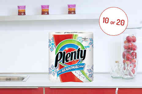 Silver Fishes - Ten Packs of Plenty Seasonal Kitchen Rolls - Save 45%