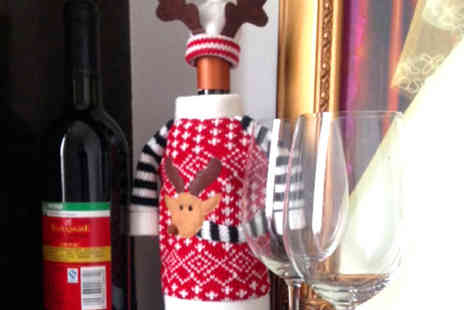 Rose River - Reindeer Wine Bottle Cover - Save 50%