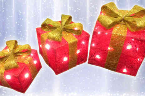 Gadgetcking - Trio LED Gift Box Decorations - Save 10%
