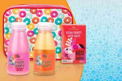 My Perfume Room - Four piece gift set of vintage Kelloggs Froot Loops bath products - Save 47%