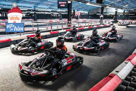Activity Superstore - Electric go karting experience with hot dog and soft drink  - Save 25%