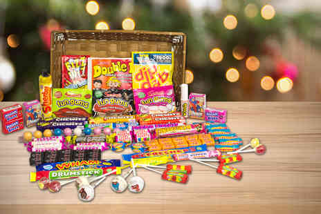 Gift Mountain - 1.2kg Retro Sweet Hamper - Save 70%