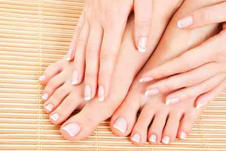 Jewel Brows & Beauty - Gelish Manicure Pedicure or Both - Save 0%
