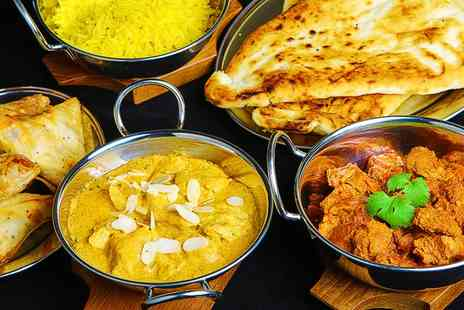 Shampan Indian - Two Course Indian Meal with Sides for Two - Save 37%