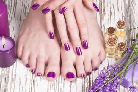 Deeva Beauty - Gel or Luxury Manicure Pedicure or Both - Save 50%
