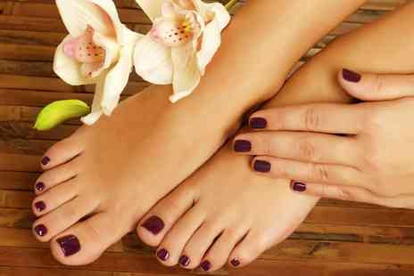 Heaven 83 - Gelish Gel Manicure, Pedicure or Both