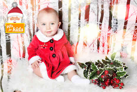 Chique Photography - Childrens Santas Grotto photoshoot with a mini makeover and five prints   - Save 82%