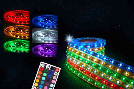 Chimp Electronics - Remote controlled five metre LED strip light add some Christmas sparkle - Save 63%