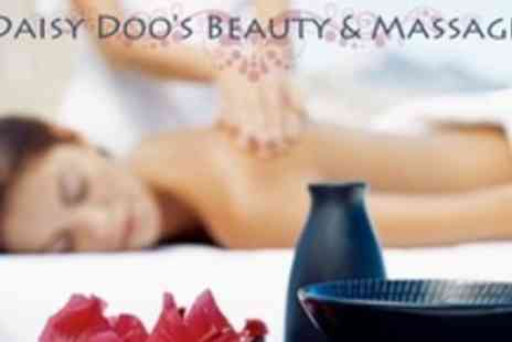 Daisy Doos Beauty & Massage - 75 Minute Massage and Choice of One Beauty Treatments Including Back Scrub, Facial, or Pedicure - Save 79%