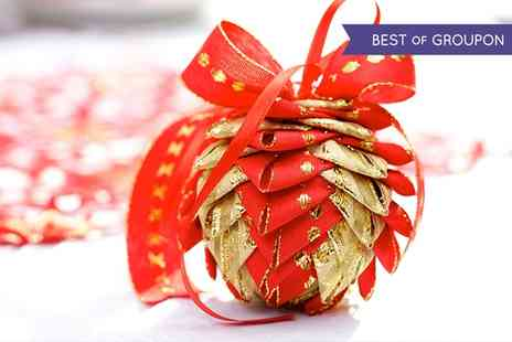 Derby College - Christmas Cracker or Bauble Making Course for One - Save 0%