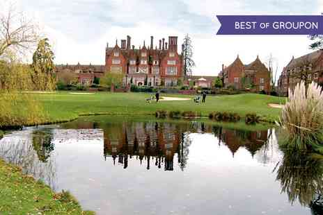 Dunston Hall- One 18 Hole Rounds of Golf with a Bacon Roll and a Hot Drink for Two - Save 0%