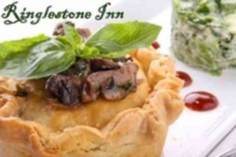The Ringlestone Inn - Starter and Main Course of British Fare For Four - Save 63%
