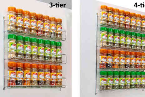 Neodirect - Chrome Spice Rack Various Sizes - Save 53%