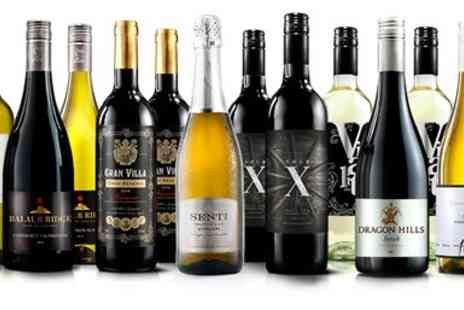 Virgin Wines Online - 12 Bottles of Wine inc Bubbly - Save 66%