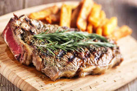 Atrium Bar - Steak dinner and wine for two - Save 63%