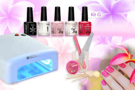 Gruv France - Seven piece UV nail kit including a UV lamp, three polishes and more - Save 83%