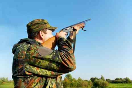 Cloudside Shooting Ground - Clay pigeon shooting with 25 clays, 25 cartridges and breakfast or afternoon tea - Save 52%