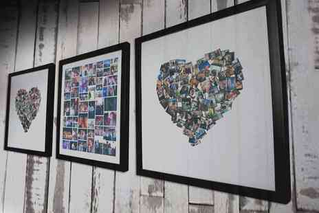 Whoartnow - 25cm x 25cm framed collage print - Save 90%