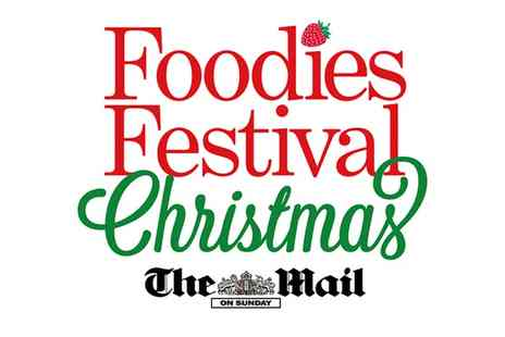 Foodies Festival -  Ticket to the Foodies Festival Christmas, with live entertainment and show guide on 11 and13 December - Save 43%