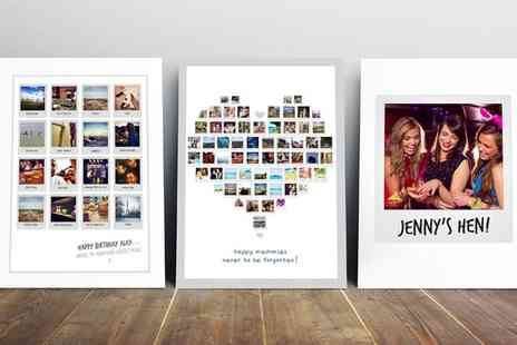 Prints With Feelings - Personalised Polaroid Canvas Collage Print - Save 72%
