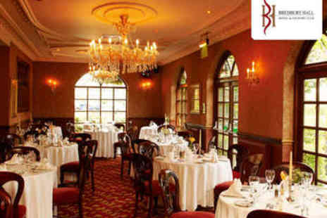 Bredbury Hall Hotel - Sunday Roast with Bottle of Wine for Two - Save 53%