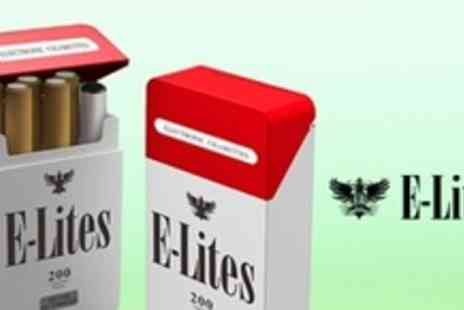 E-Lites - E Lites E200 Starter Kit Plus 5 Tips, Equivalent of 400 Cigarettes, With In Car Charger - Save 60%