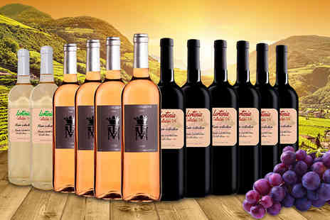 Premium Rioja - 12 bottle mixed case of Spanish wine including Lorteina Red, Monteleiva Rioja Rosé and Lorteina Blanc - Save 0%