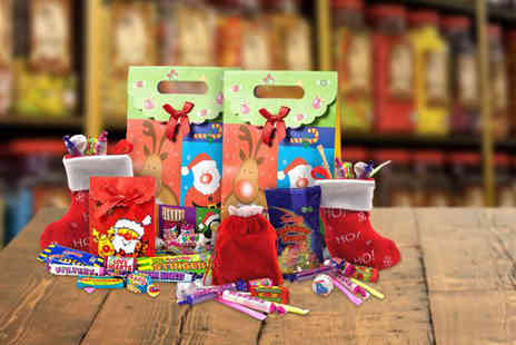 Chewbz - Christmas gift bundle with sweets, stockings and a sack - Save 62%