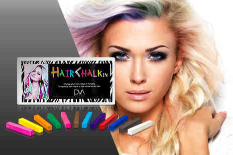 DVA Beautique - Pack of colourful 12 Hair ChalkIn hair chalks - Save 84%