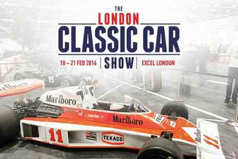 The London Classic Car Show - One Ticket to The London Classic Car Show 19 to 21 February   - Save 24%