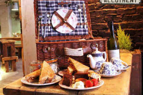 Allotment Bar - Picnic Basket with Afternoon Tea and Bubbly for Two  - Save 0%