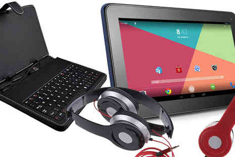 HK J and Y International Trading  - Android Tablet Headphones And Keyboard Bundle - Save 84%