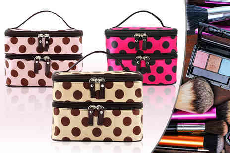 Eden Wear - Makeup bag with multiple compartments and double layer - Save 70%