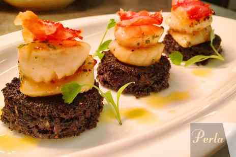 Perla - Tapas for Two with Sides Plus Soft Drinks or Wine  - Save 51%