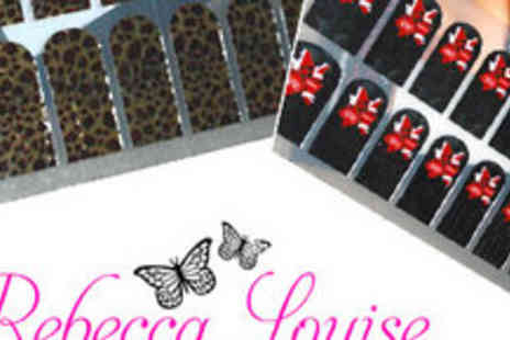 Rebecca Louise - 3 Packets of Funky and Fabulous Foil Nail Wraps - Save 61%