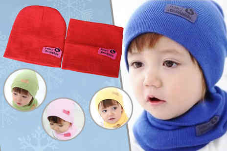 121 Mart - Hans Pumpkin kids winter hat and scarf - Save 80%