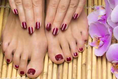 Nail Tonic Plus - Gel Mani, Pedi or Both  - Save 13%
