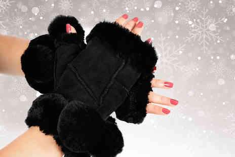 Sheepys - Pair of ladies supersoft sheepskin fingerless gloves - Save 0%