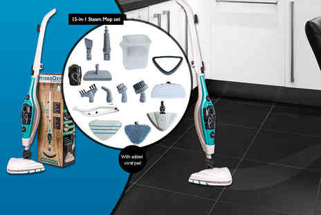 Lewis Matic - 1500w 15 in 1 HydroOxy steam mop - Save 0%