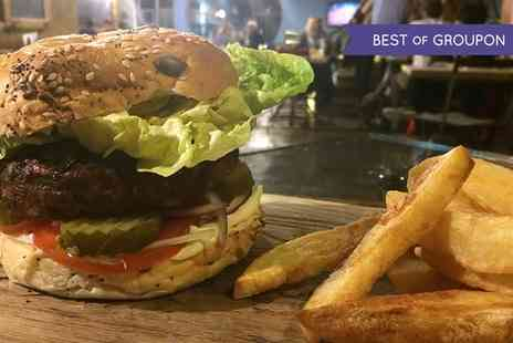 Mud Dock Cafe - Choice of Beef or Veggie Burger with Fries for Two - Save 50%
